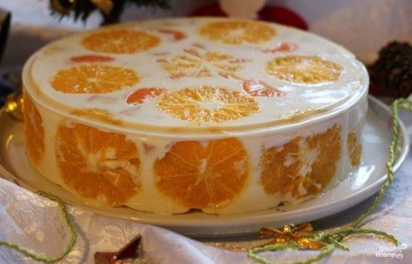 Торт с фруктами и желатином - пошаговый рецепт с фото на ...