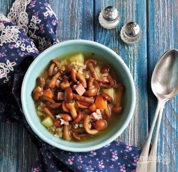 Суп с опятами замороженными - пошаговый рецепт с фото на ...