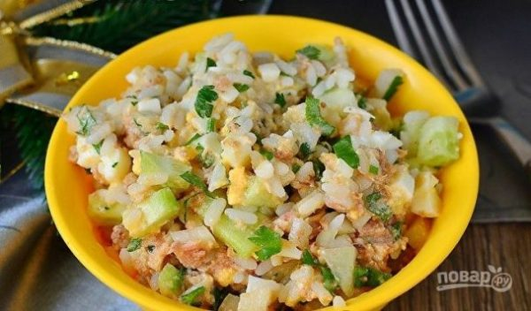 Салат с тунцом и рисом - пошаговый рецепт с фото на Повар.ру