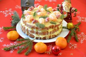 Мандариновый торт на Новый год - фото шаг 31