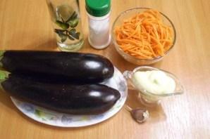 Рулетики из баклажанов с морковкой и чесноком - фото шаг 1