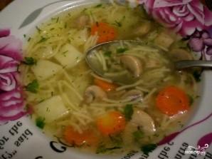 Суп грибной с вермишелью - пошаговый рецепт с фото на Повар.ру