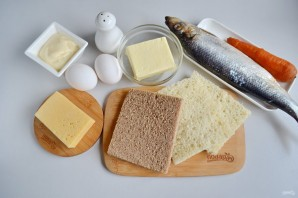 Закусочный бутербродный торт с рыбой - фото шаг 1