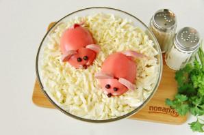 Салат на Год Крысы из вареной колбасы - фото шаг 9
