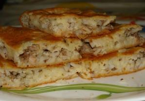 Пирог с консервой и рисом - пошаговый рецепт с фото на ...
