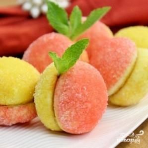 """Пирожные """"Персики"""" - пошаговый рецепт с фото на Повар.ру"""
