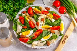 Салат с миндалем и курицей - фото шаг 6
