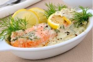 Красная рыба в сливочном соусе в духовке - фото шаг 4
