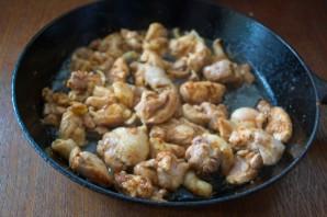 Чанахи в горшочках с фасолью - фото шаг 4