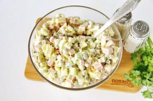 Салат на Год Крысы из вареной колбасы - фото шаг 7