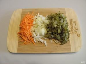 Pickle com cevada e pepinos salgados - foto passo 3