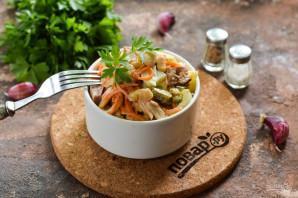 Немецкий салат с фасолью - фото шаг 9