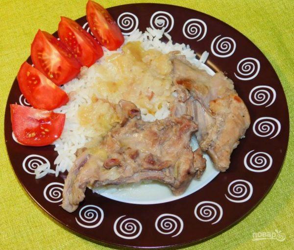 Кролик с яблоками и луком - пошаговый рецепт с фото на ...