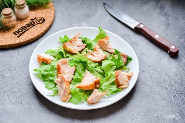Салат с копченой курицей и грушей - пошаговый рецепт с ...