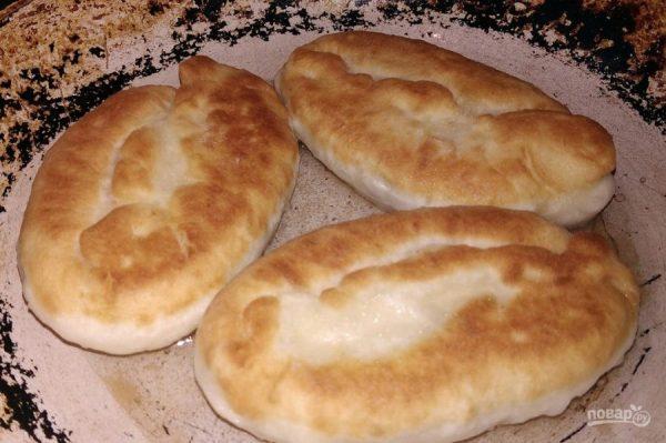 Пирожки на кефире (с картошкой и печенью) - пошаговый ...