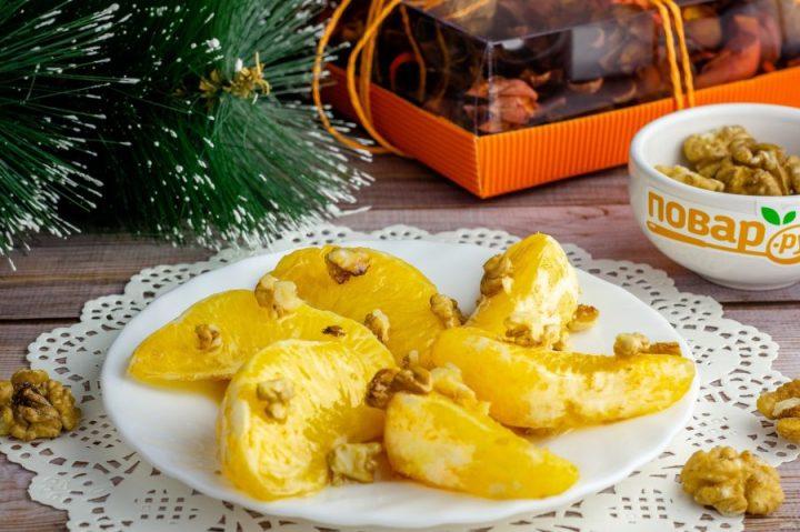 Апельсин в духовке с медом и корицей