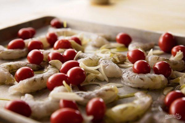 Запеченные креветки с помидорами - пошаговый рецепт с фото ...