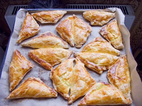 Пирожкитреугольники с мясом пошаговый рецепт с фото на