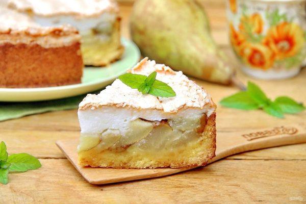 Грушевый пирог с безе - пошаговый рецепт с фото на Повар.ру
