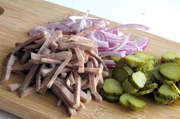 Салат из свиного языка - пошаговый рецепт с фото на Повар.ру