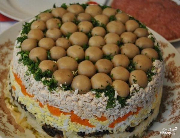 Салат Грибная поляна - пошаговый рецепт с фото на Повар.ру