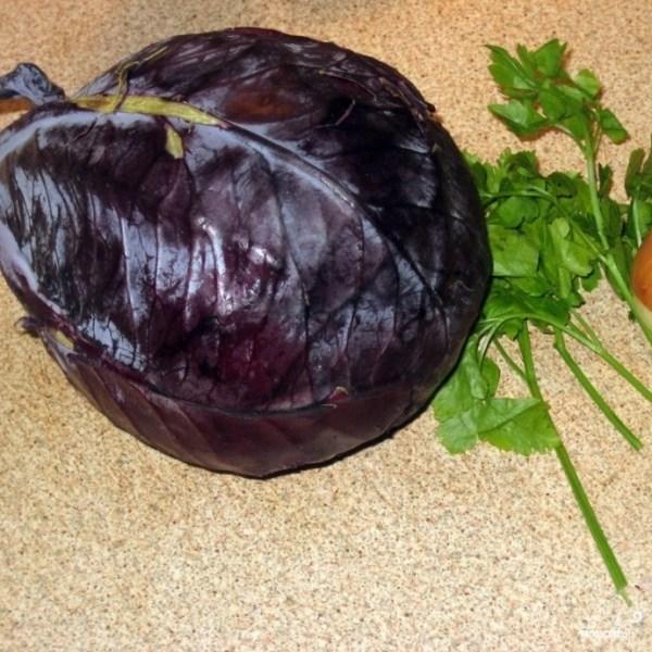 Салат из красной капусты пошаговый рецепт с фото на Поварру