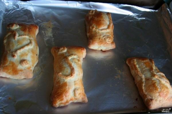 Пирожки с курицей и сыром в духовке - пошаговый рецепт с ...