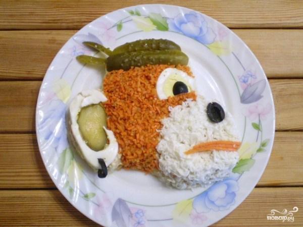 """Салат """"Обезьянка"""" с корейской морковкой - пошаговый рецепт ..."""
