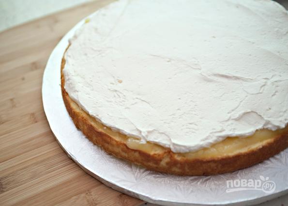 Торт из готовых коржей с фруктами - пошаговый рецепт с ...