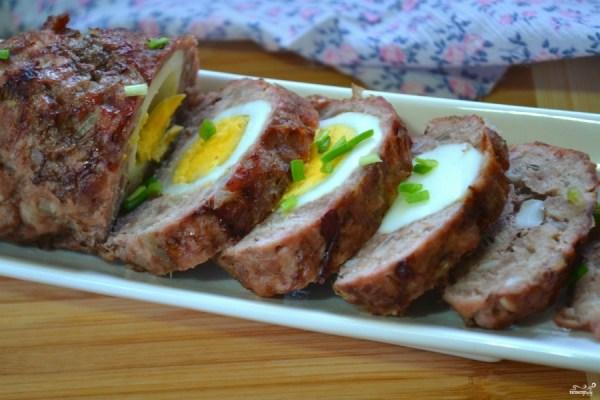 Мясной рулет с яйцом в духовке - пошаговый рецепт с фото ...