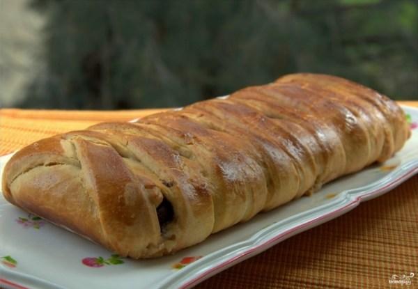 Пирог с сулугуни из слоеного теста пошаговый рецепт с