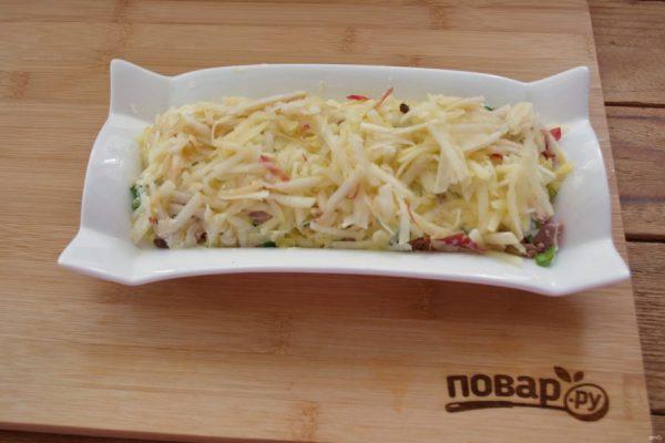 Салат из печени трески с яблоками - пошаговый рецепт с ...