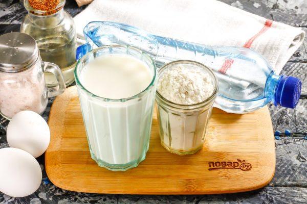 Блины на минералке и молоке - пошаговый рецепт с фото на ...
