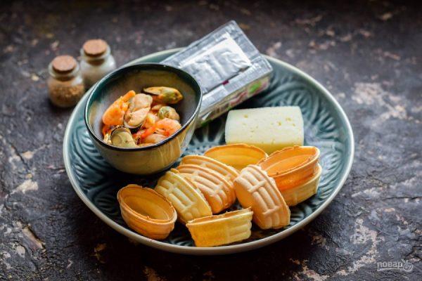 Тарталетки с мидиями - пошаговый рецепт с фото на Повар.ру