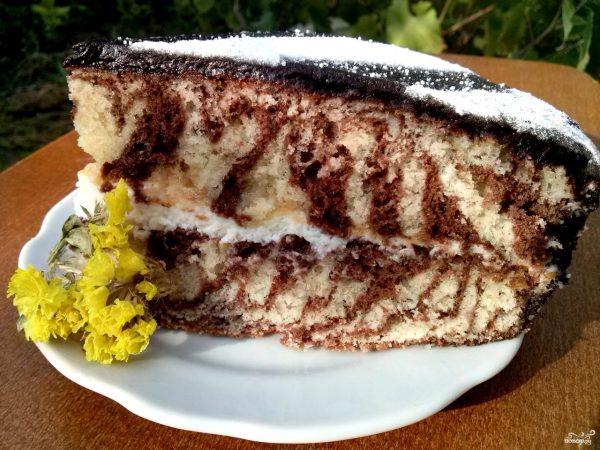 "Торт ""Зебра"" - пошаговый рецепт с фото на Повар.ру"