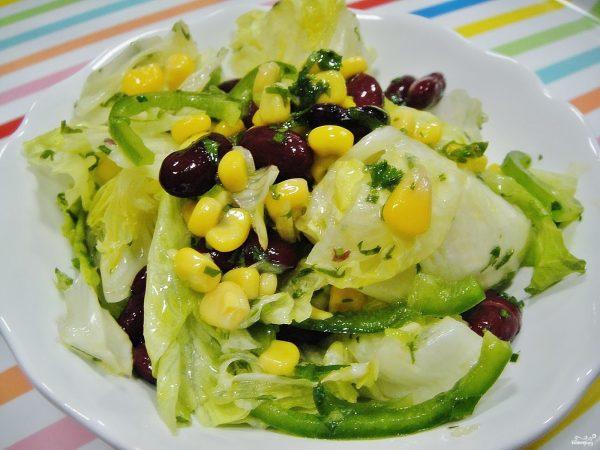 Мексиканский салат с фасолью - пошаговый рецепт с фото на ...