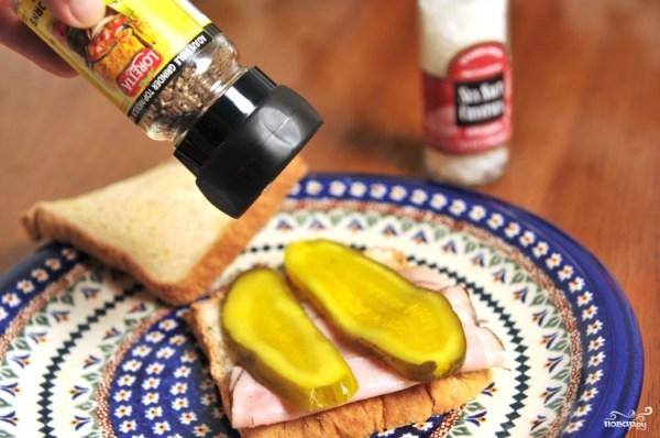 Бутерброд с солеными огурцами - пошаговый рецепт с фото на ...
