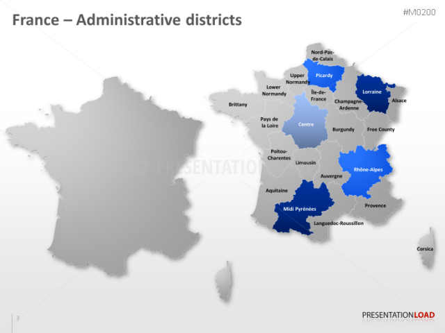 PowerPoint Map France   PresentationLoad