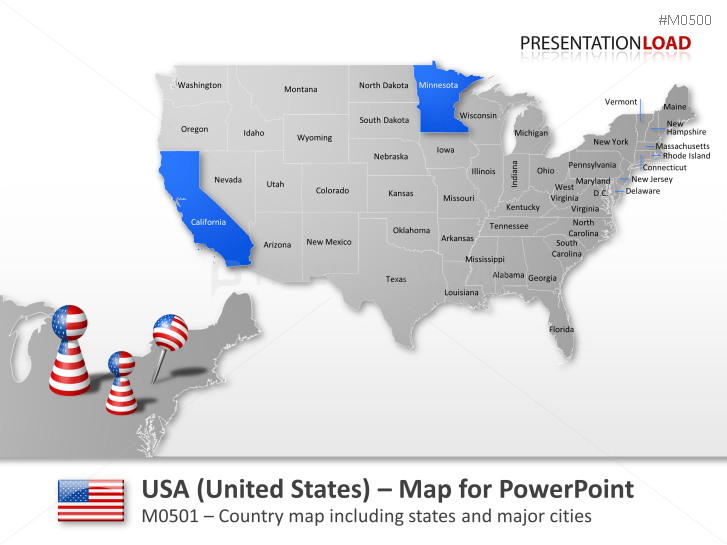 Powerpoint isn't just for meetings. Powerpoint Map United States Usa Presentationload