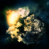 Create a Detailed Meteorite and Surrounding Space Environment in Photoshop