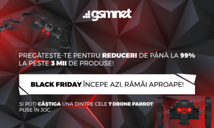 Black Friday iți poate aduce gratuit o Dronă PARROT