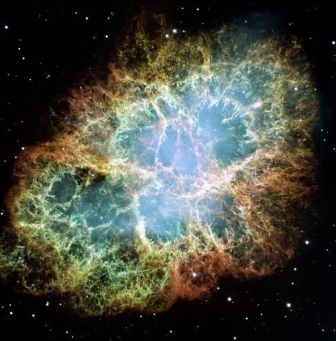 A Nebulosa Crab foi formada após a explosão de uma estrela supernova que ocorreu em 1054, segundo cientistas chineses