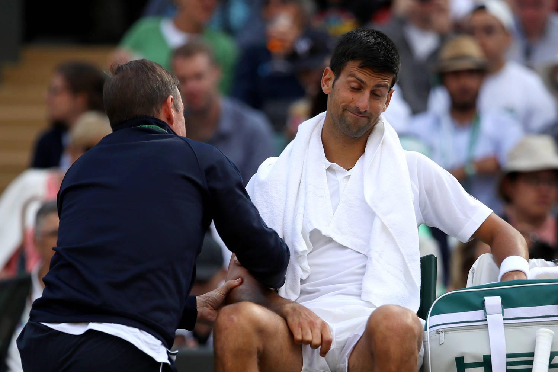 Sérvio sofreu a contusão nas quartas de Wimbledon