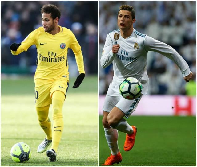 Neymar, do PSG, e Cristiano Ronaldo, do Real Madrid, vão se enfrentar