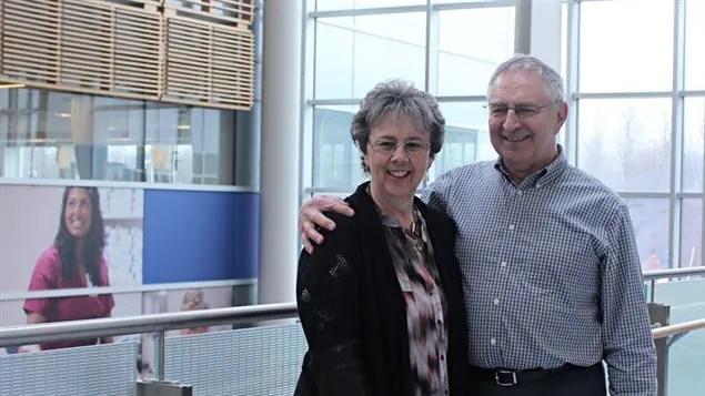 Charles Berniqué et son épouse Maureen.