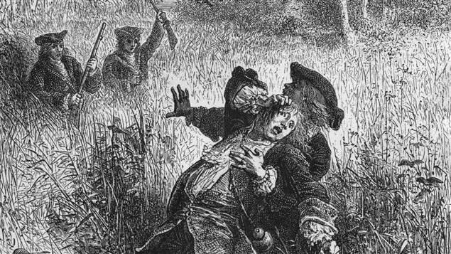Illustration du meurtre de Robert de La Salle