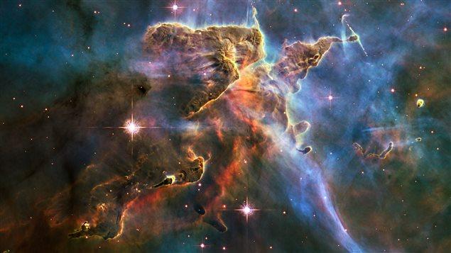 Captation faite par le télescope Hubble de la nébuleuse Carina