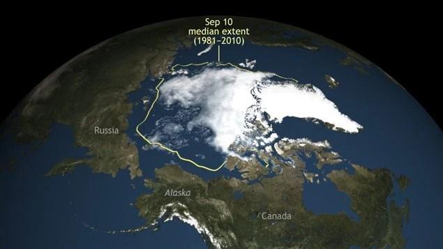 Le couvert de glace de l'océan Arctique a encore diminué l'été dernier.