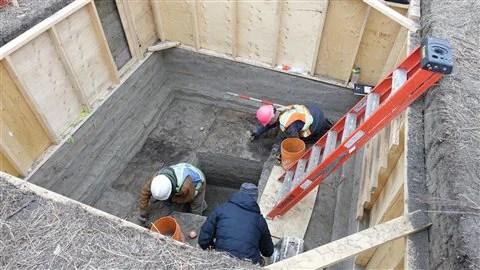 Un des deux chantiers de fouilles à McKinnon Flats.