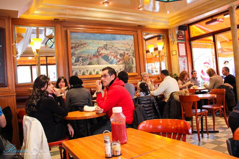 Le Quasimodo Notre Dame-paris-resturant-巴黎-餐廳-美食-推薦-食記-塞納河畔-巴黎聖母院-西堤島旁-室內空間